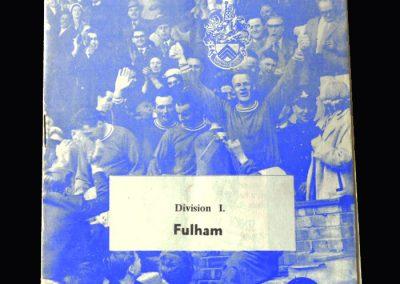 Orient v Fulham 16.02.1963