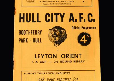 Orient v Hull 19.02.1963 (FA Cup 3rd Round Replay)
