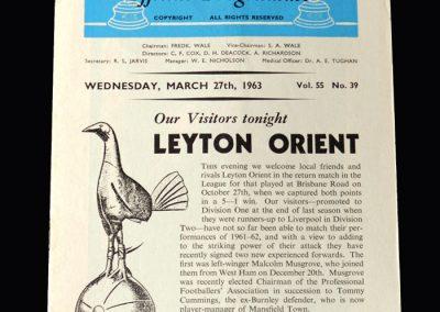 Orient v Spurs 27.03.1963