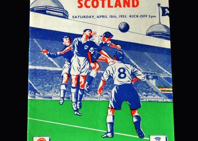 England v Scotland 18.04.1953