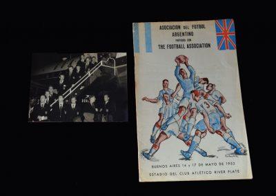 England v Argentina 17.05.1953 (Team Photo - Taylor Debut)