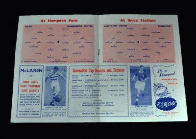 Celtic v Man Utd (Hampden Park) | Hibs v Newcastle (Ibrox) Semi Finals 16.05.1953