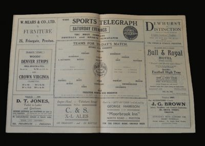Preston Reserves v Stoke Reserves 29.08.1931 (Stanley Matthews)
