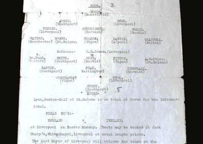 Reds v Blues (Liverpool Boys) 23.02.1936