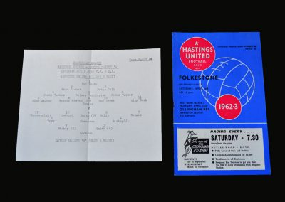 Hastings v Orient A 20.04.1963 | Hastings v Folkestone 20.04.1963