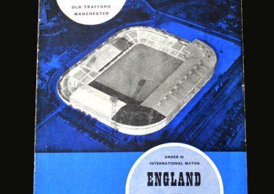 England v Yugoslavia 21.03.1963 (Under 23)