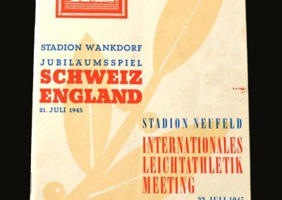 Switzerland v England 21.07.1945 3-1
