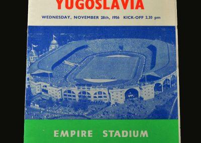 England v Yugoslavia 28.11.1956