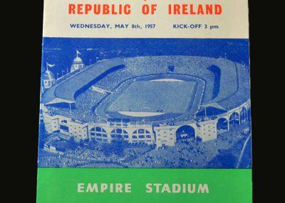 England v Ireland 08.05.1957