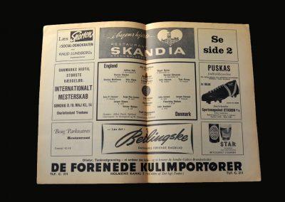England v Denmark 15.05.1957
