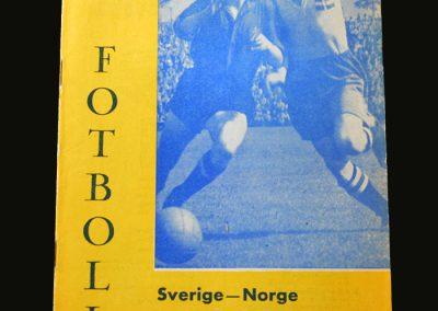 Sweden v Norway 13.10.1957