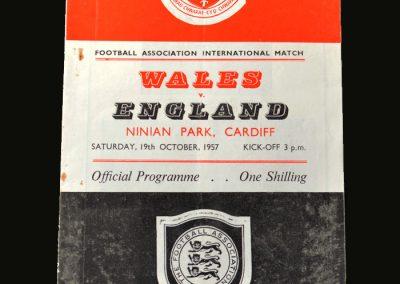 Wales v England 19.10.1957