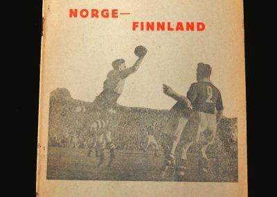 Norway v Finland 15.06.1958