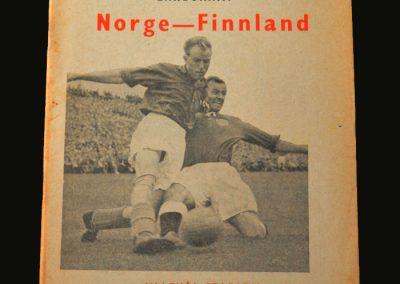 Norway v Finland 26.08.1956