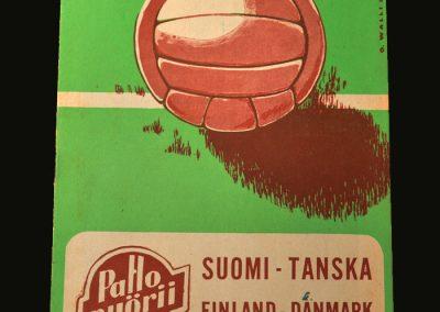Finland v Denmark 16.09.1956