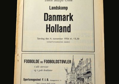 Denmark v Holland 04.11.1956