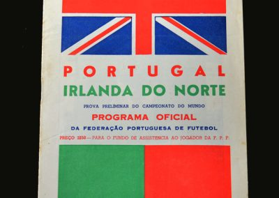 Portugal v Northern Ireland 16.01.1957