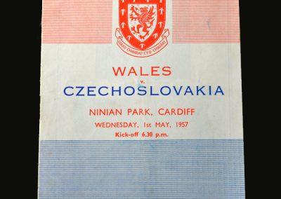Wales v Czechoslovakia 01.05.1957