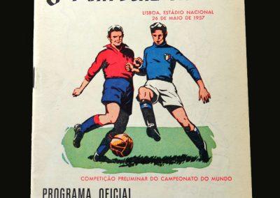 Portugal v Italy 26.05.1957