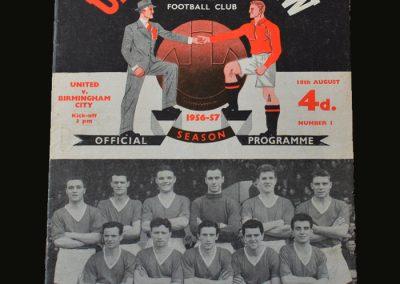 Man Utd v Birmingham 18.08.1956