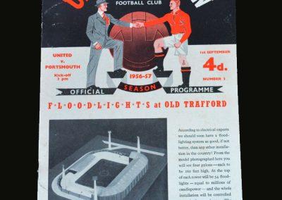 Man Utd v Portsmouth 01.09.1956