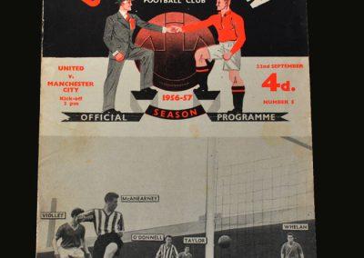 Man Utd v Man City 22.09.1956