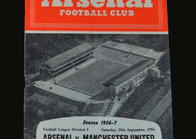 Man Utd v Arsenal 29.09.1956