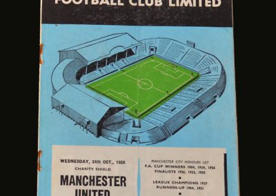Man Utd v Man City 24.10.1956 (Charity Shield)