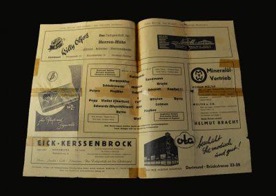 Man Utd v Borussia Dortmund 21.11.1956 (European Cup 1st Round 2nd Leg)