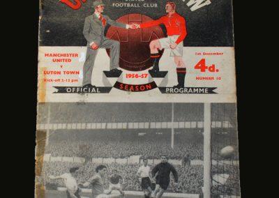 Man Utd v Luton 01.12.1956
