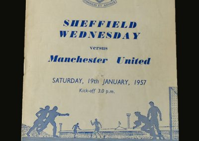Man Utd v Sheff Wed 19.01.1957