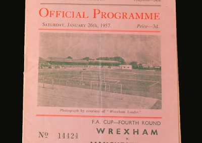 Man Utd v Wrexham 26.01.1957 (FA Cup 4th Round)