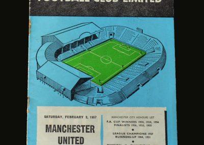Man Utd v Man City 02.02.1957