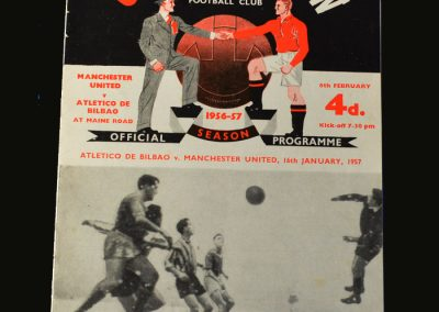 Man Utd v Athletico Bilbao 06.02.1957 (European Cup Quarter Final 2nd Leg)