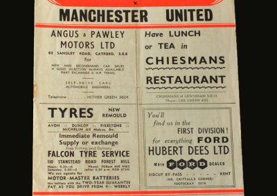 Man Utd v Charlton 18.02.1957