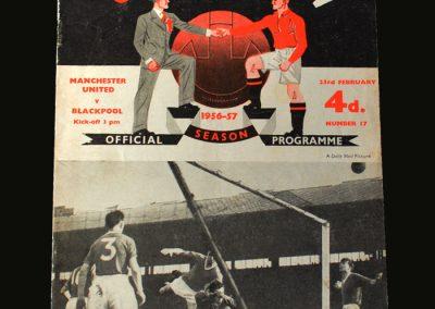 Man Utd v Blackpool 23.02.1957
