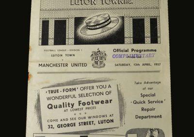 Man Utd v Luton 13.04.1957
