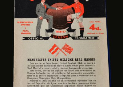 Man Utd v Real Madrid 25.04.1957 (European Cup Semi Final 2nd Leg)