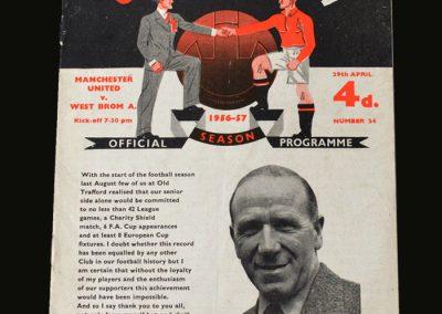 Man Utd v West Brom 29.04.1957
