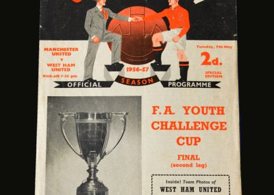 Man Utd v West Ham 07.05.1957 (FA Youth Cup Final 1st Leg)