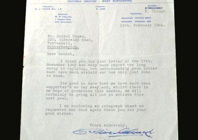 Letter to fan 12.02.1966