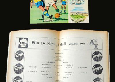 Sweden v Hungary 12.06.1958