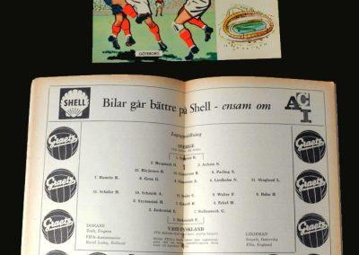 Sweden v West Germany 24.06.1958 (Semi Final)