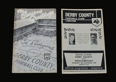 Derby v Portsmouth 21.12.1968 | Derby v Middlesbrough 26.12.1968