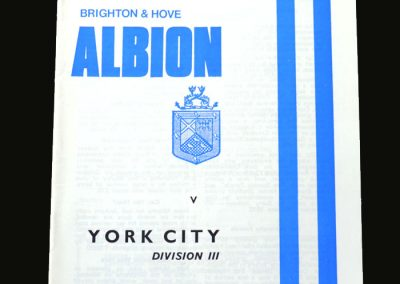 Brighton v York 03.11.1973 (10,000 on the gate)