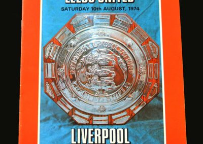 Leeds v Liverpool 10.08.1974 (Charity Shield)