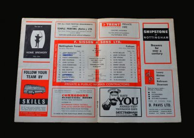Forest v Fulham 03.02.1975 (FA Cup 4th Round)
