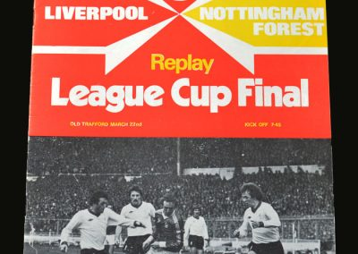Forest v Liverpool 22.03.1978 (League Cup Final Replay)