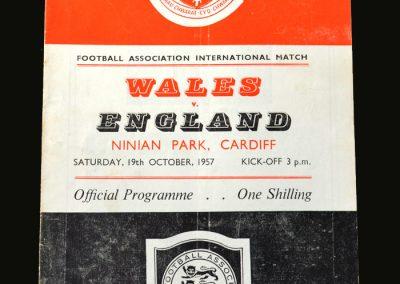 England v Wales 19.10.1957