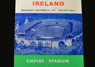 England v Northern Ireland 06.11.1957